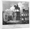 View of Charing Cross, showing the statue of King Charles I, Westminster, London by JC Varrall