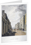 View of Charles Street with figures working in the foreground, London by Anonymous
