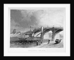 View of Vauxhall Bridge with a steamboat on the Thames, London by Anonymous