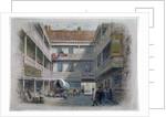 Courtyard of the White Hart Inn, Borough High Street, Southwark, London by Charles Wilkinson