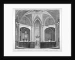 Interior of the Church of St Bartholomew-the-Less looking towards the altar, City of London by
