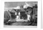 Old houses on Bankside, near London Bridge and St Saviour's Dock, Southwark, London by