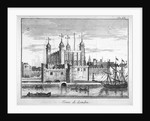 View of the Tower of London from the River Thames by Anonymous