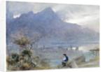 Stansstad and the Pilatus, Switzerland by Albert Goodwin