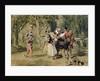 Sir Andrew Aguecheek Writes a Challenge by Sir John Gilbert