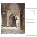 Entrance to the cloisters from Dean's Court, Westminster Abbey, London by