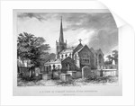 South-east view of St Mary's Church, Stoke Newington, London by JR Jobbins