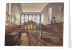 Interior view of the Church of St Matthew, Friday Street, City of London by John Crowther
