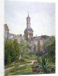 The tower of the Church of St Botolph, Aldersgate, City of London by