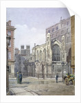 View of a French Protestant church on St Martin's le Grand, City of London by