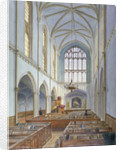 Interior view of a French Protestant church on St Martin's le Grand, City of London by John Crowther