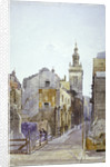 College Hill and the Church of St Michael Paternoster Royal, City of London by John Crowther