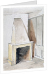 Fireplace in one of the top rooms, no 21 Austin Friars Street, City of London by