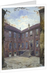 View of an old house in Great Winchester Street, City of London by John Crowther