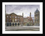View of the grammar school at Christ's Hospital, Newgate Street, City of London by John Crowther