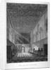 Interior view of Lambeth Palace chapel, London by