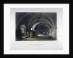 Crypt filled with barrrels under the chapel at Lambeth Palace, London by John Wykeham Archer