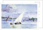 A Lake with Sailing Boats by Anna Lea Merritt