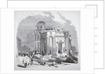Demolition of the monument to George IV, King's Cross, London by
