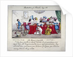 The board of Red cloth, City ladies admitted if extreemly Rich... by
