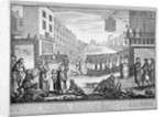 Mock funeral procession in St Giles, London by Anonymous