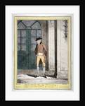 A man outside Brooks's Club, London by George Cruikshank