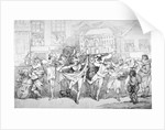Ragged musicians and dancers by
