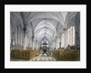 Interior view of Temple Church, London by