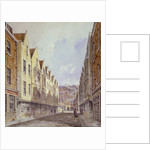 View of Great Winchester Street with Winchester Place visible in the distance, London by Robert Blemmell Schnebbelie