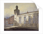 View of St Katherine Cree's sundial, City of London by William Pearson