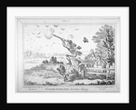 Cockney-sportsmen shooting flying by James Gillray