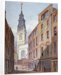 Church of St Michael, Crooked Lane and part of Crooked Lane, City of London by John Coney