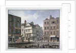 View of Middle Row and Gray's Inn Lane, Holborn, London by John Chessell Buckler