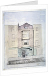 View of Milton's house in Barbican, City of London by J Benny
