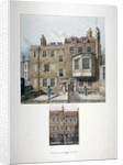 Two views of houses in Bell Yard, Chancery Lane, London by Robert Blemmell Schnebbelie