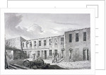 View of Ludgate Prison in ruins, Bishopsgate, City of London by Robert Blemmell Schnebbelie