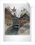 View of the back of a house in Chick Lane, showing Fleet Ditch, City of London by
