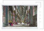 Interior view of Westminster Abbey, London by Anonymous