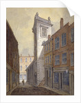 Church of St George Botolph Lane from George Lane, City of London by William Pearson