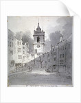 Church of St Giles without Cripplegate from Fore Street, City of London by John Claude Nattes