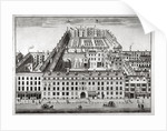 Bird's-eye view of Furnival's Inn, Holborn, City of London by Sutton Nicholls