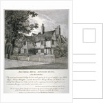 The Rector's House on Newington Butts in Southwark, London by Anonymous