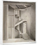 Interior view of the staircase in Surrey Theatre on Blackfriars Road, Southwark, London by Clarkson Stanfield