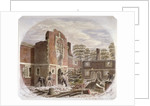 Men demolishing St Peter's Hospital, Southwark, London by James Findlay