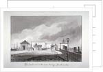 Toll houses on Southwark Bridge, London by John Chessell Buckler