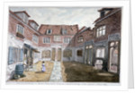 Watermen's Almshouses in Queen's Arms Court, Upper Ground Street, Southwark, London by