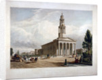 St Pancras New Church on the Euston Road, London by