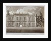 View of the garden front of Bradmore House, Hammersmith, London by M Merigot