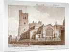 South-east view of the Church of St Mary, Lambeth, London by John Chessell Buckler
