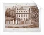 View of the rectory house of St Mary at Lambeth, London by